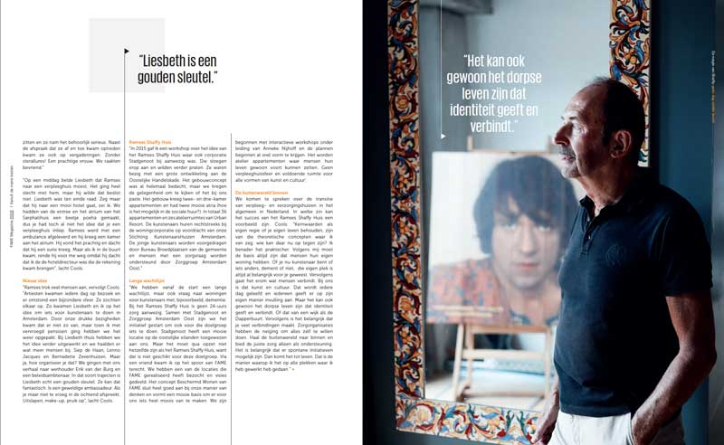 Fame magazine Ramses Shaffy Huis - interview voorzitter Ed Cools